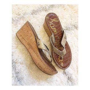 Sam Edelman Leather Romy Platform Flip Flop Sandal